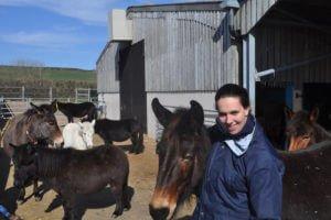 Nadia van Ezellogica op bezoek bij The Donkey Sanctuary