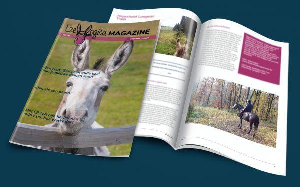 Het ezelmagazine van Ezellogica met informatie over ezel